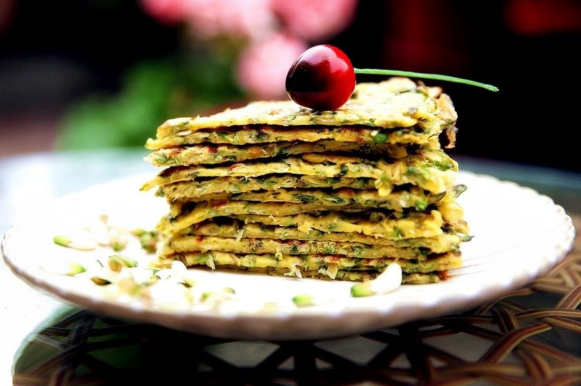 Acacia flower Pancake Recipe healthy breakfast