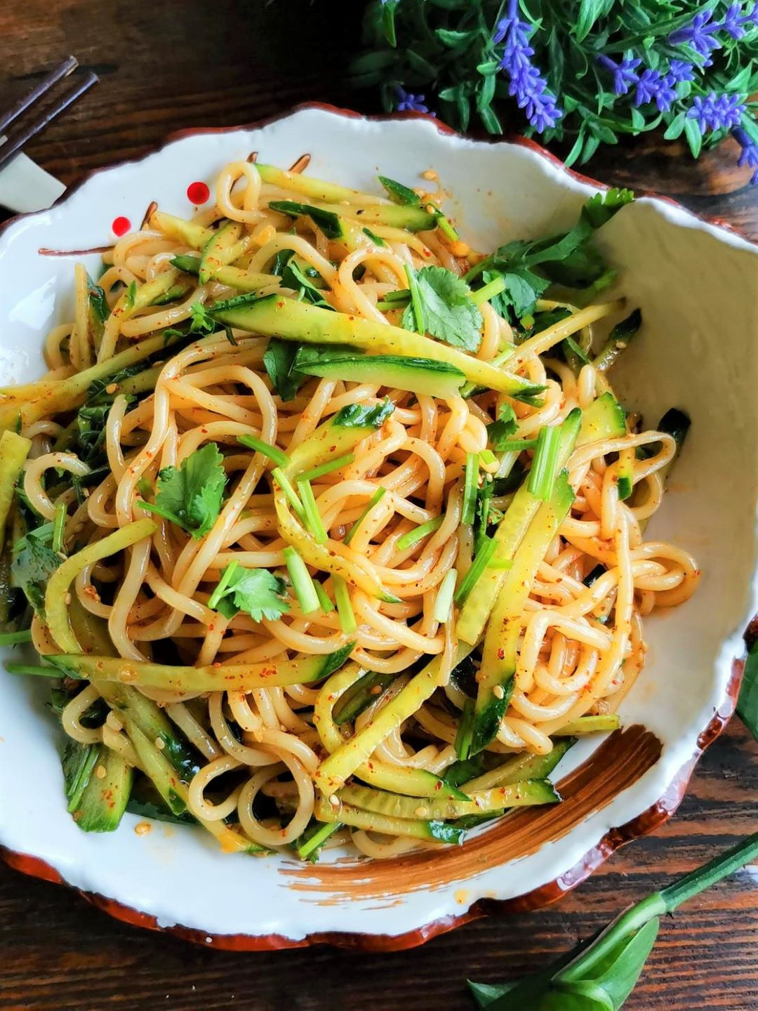 Asian Noodle Salad With Cucumber recipe Chinese Hot and sour noodles 2021