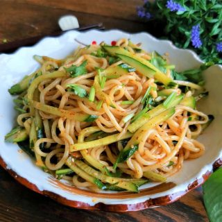 Asian Noodle Salad With Cucumber recipe Chinese Hot and sour noodles