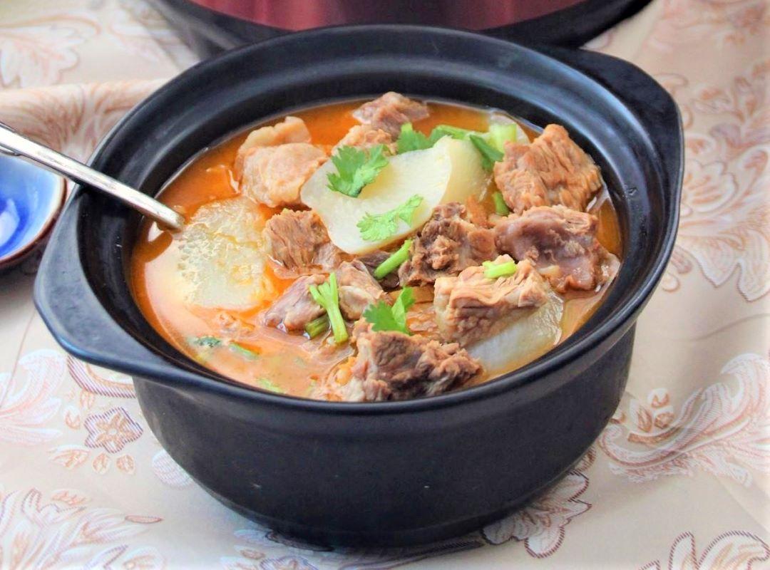 Beef stew with radish recipe
