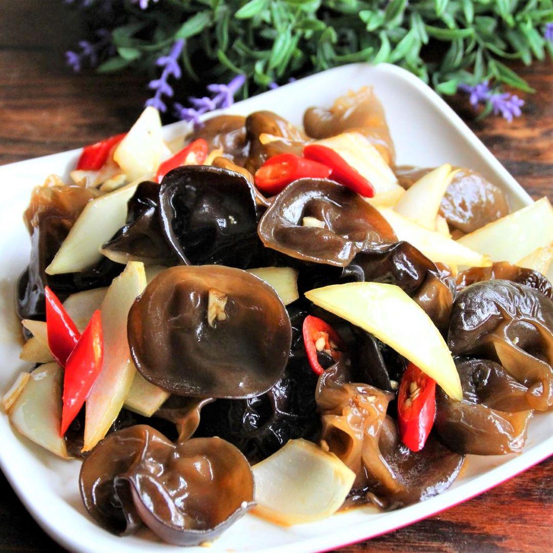 Black Fungus and onion salad recipe china cold dish 2020