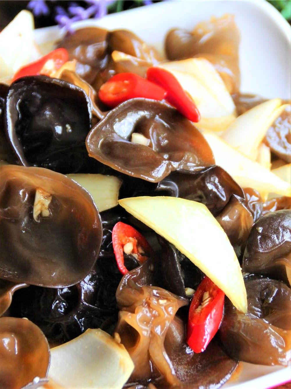 Black Fungus and onion salad recipe china cold dish 2021