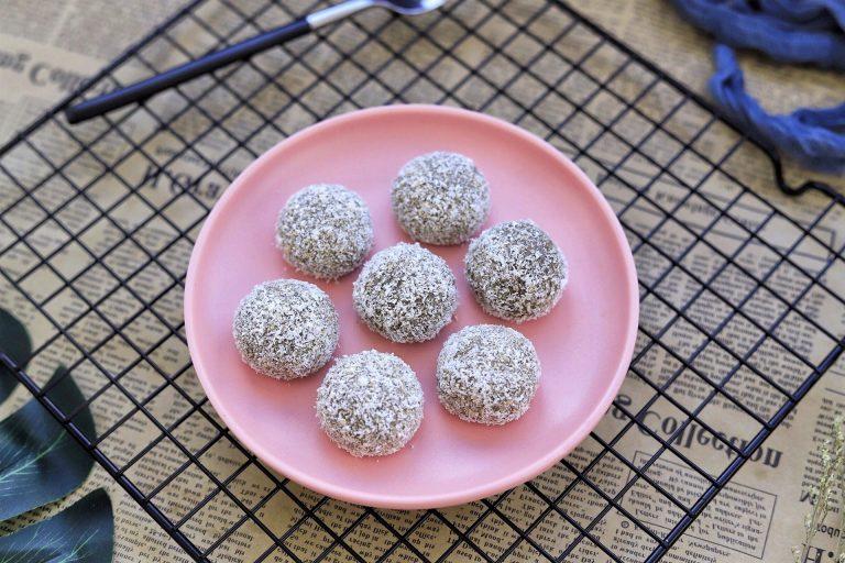 Brown sugar glutinous rice balls Chinese dessert