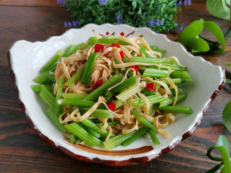Celery Tofu Skin Salad Recipe Chinese Cold Dishes