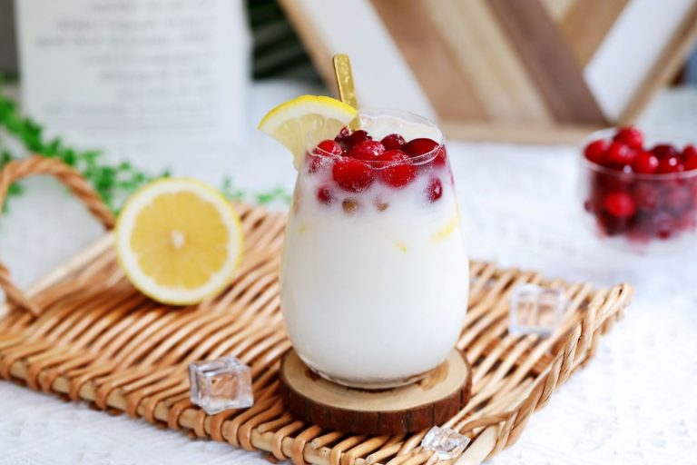 Cranberry Lemon Yogurt Drink