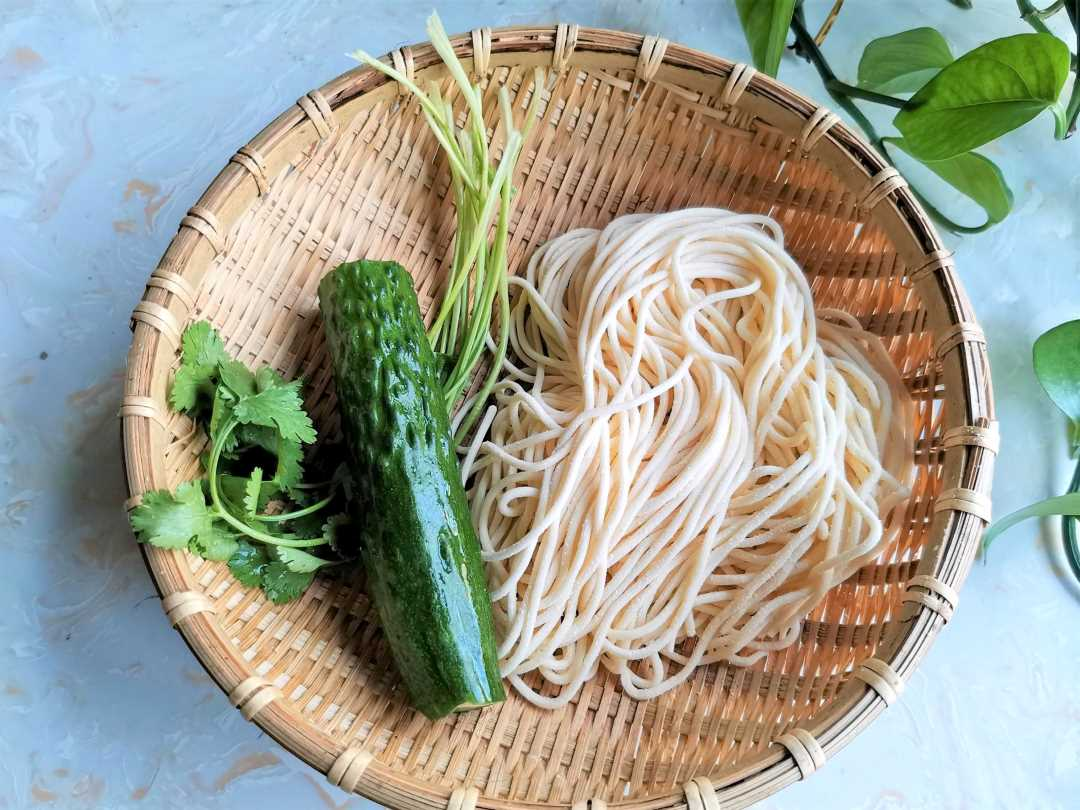 Ingredients Asian Noodle Salad With Cucumber recipe Chinese Hot and sour noodles