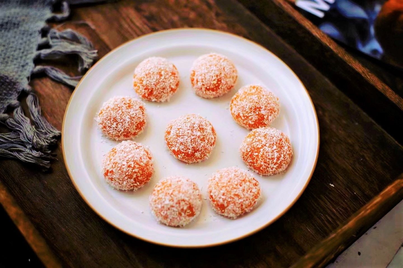 Pumpkin Sticky Rice Ball