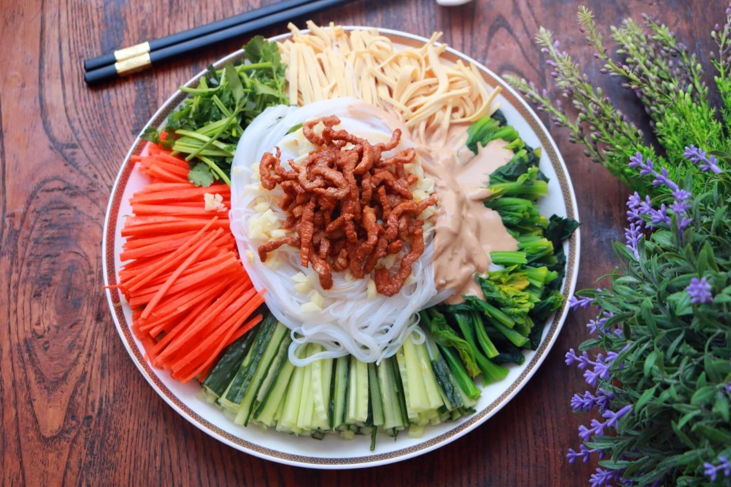 Simple healthy mixed salad recipe chinese cold dish