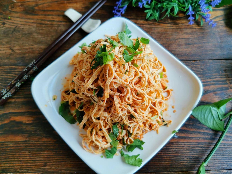 Spicy tofu skin salad Chinese cold dish recipes 2022