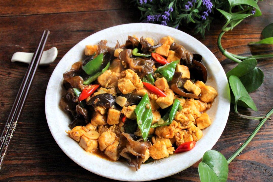 Tofu, Black Fungus And Green Peppers Stir-Fry Recipe 2021