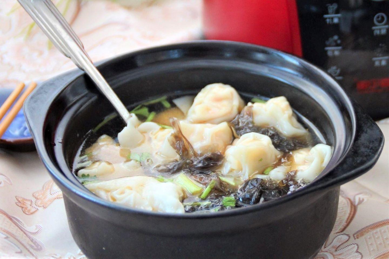 Wonton Soup Chinese Chicken Corn Wonton Soup Asian Brekfast 08