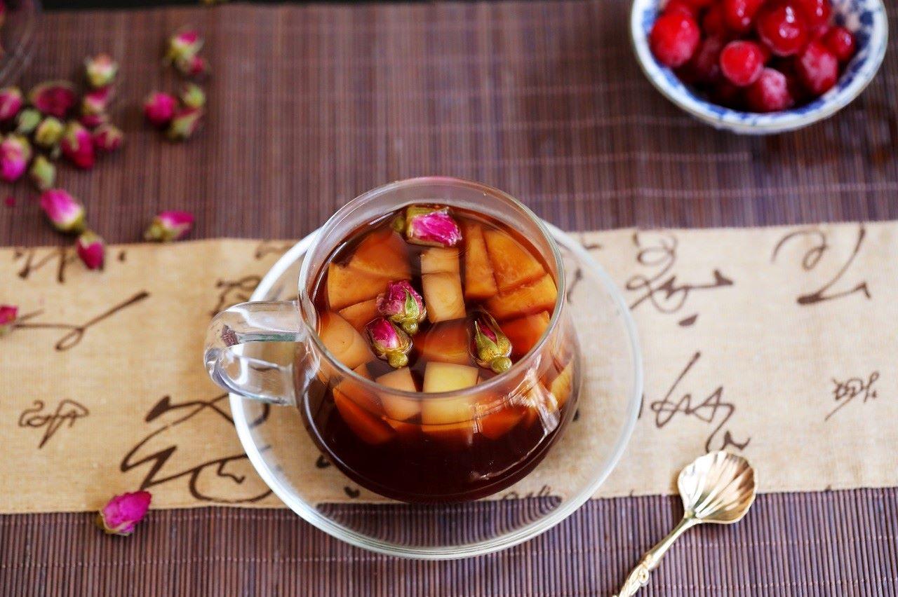 cranberry rose apple red date tea