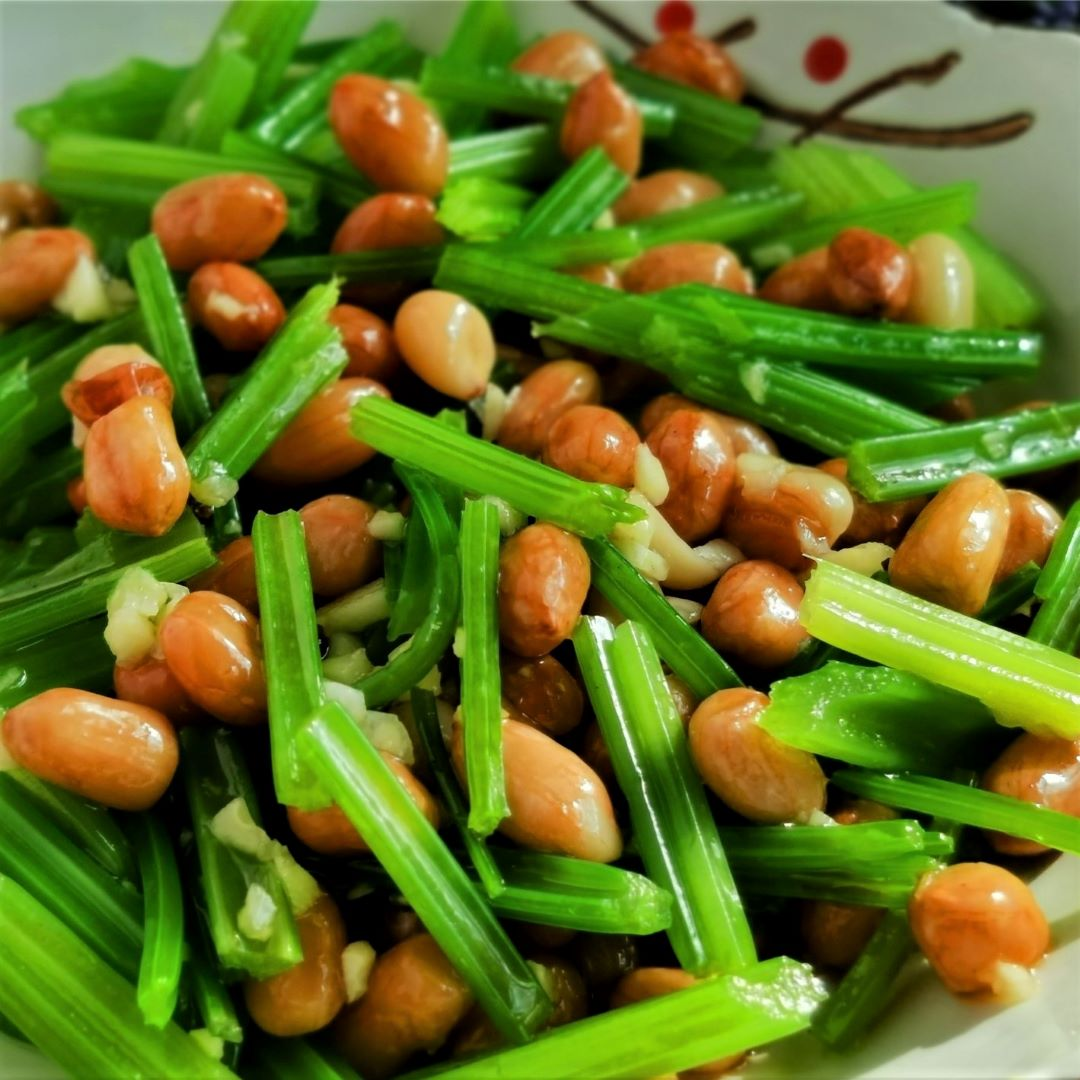 Celery and peanuts salad the best side dish for wine asian salad recipe