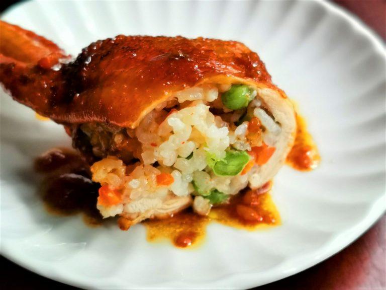 Fried Rice Stuffed Chicken Wings
