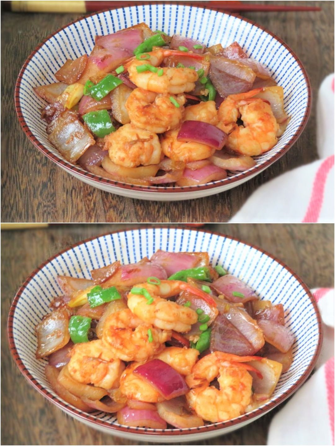 Fried shrimp with onion recipe healthy dish for elderly