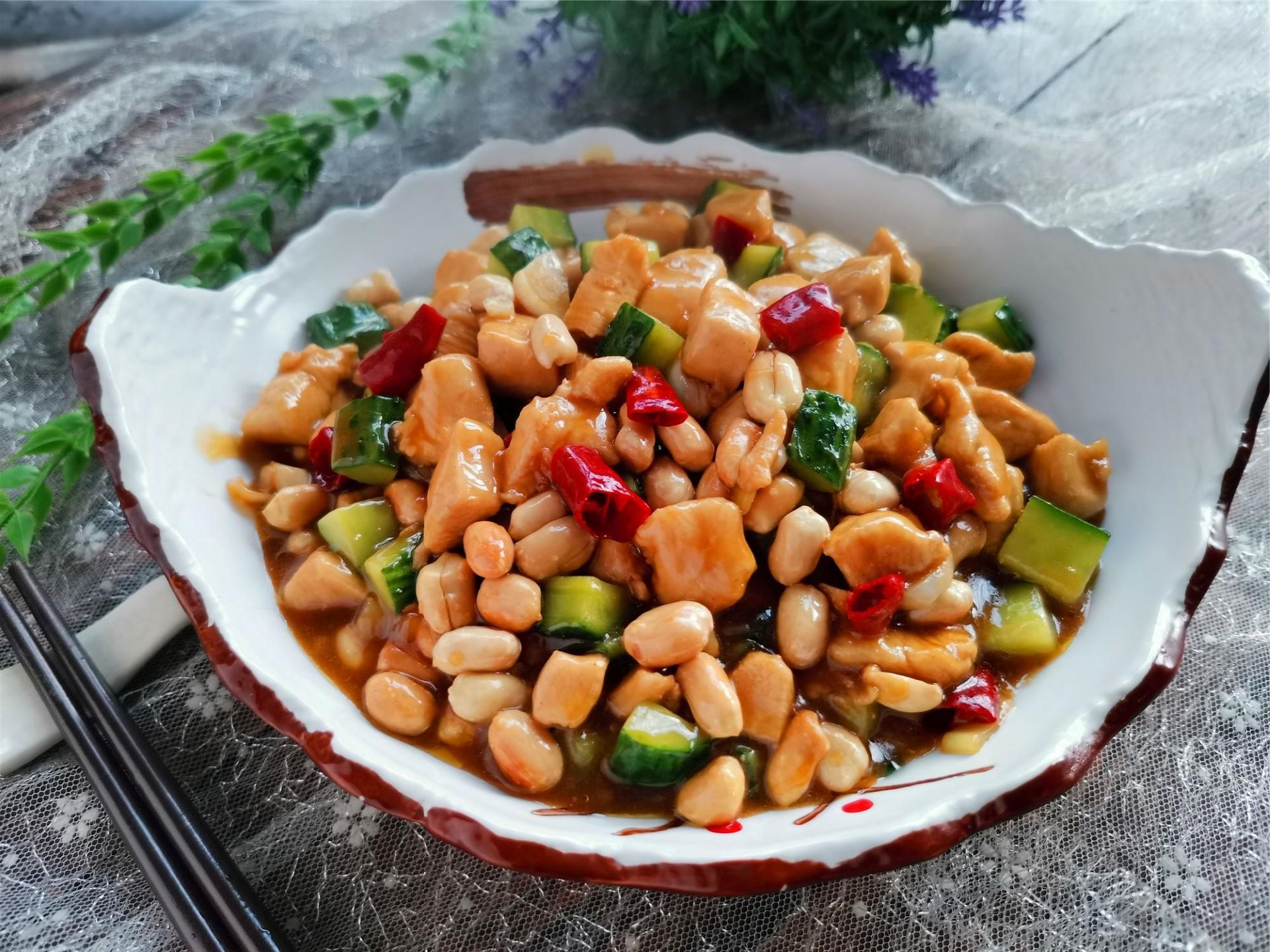 Kung pao chicken recipe healthy spicy diced chicken China food Chinese homemade dish recipe