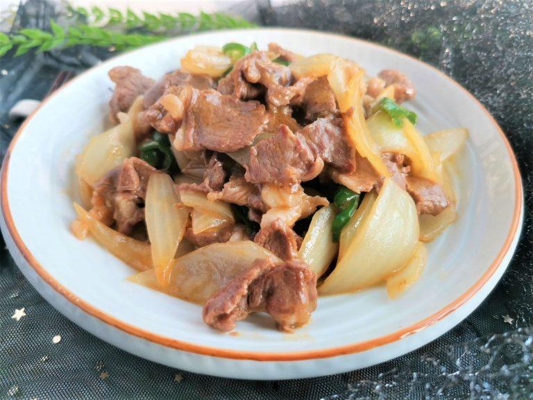 Stir-fried lamb with onions