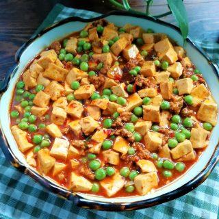 Tofu with peas and ground pork recipe china food