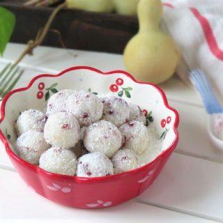 Yam cranberry balls china food Chinese dessert snacks recipe