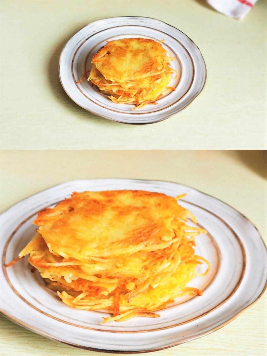 potato pancakes without flour Crispy potato and egg pancakes recipe