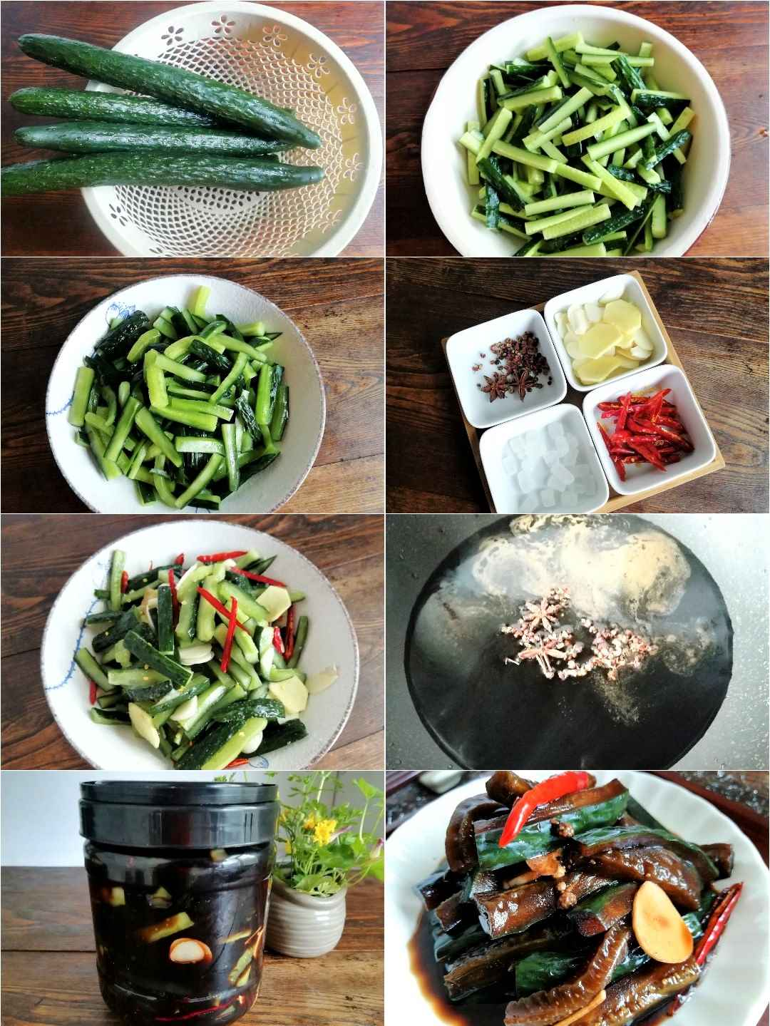 Chinese pickled cucumbers recipe steps