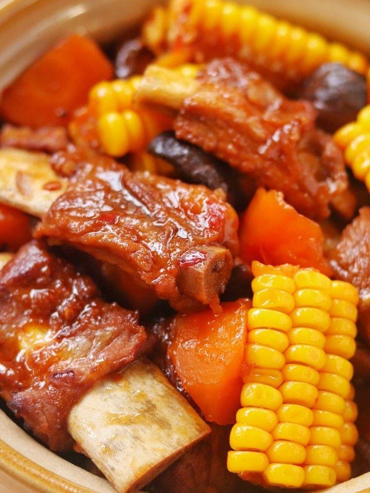 Corn and spareribs casserole stewed pork ribs with corn recipe 08