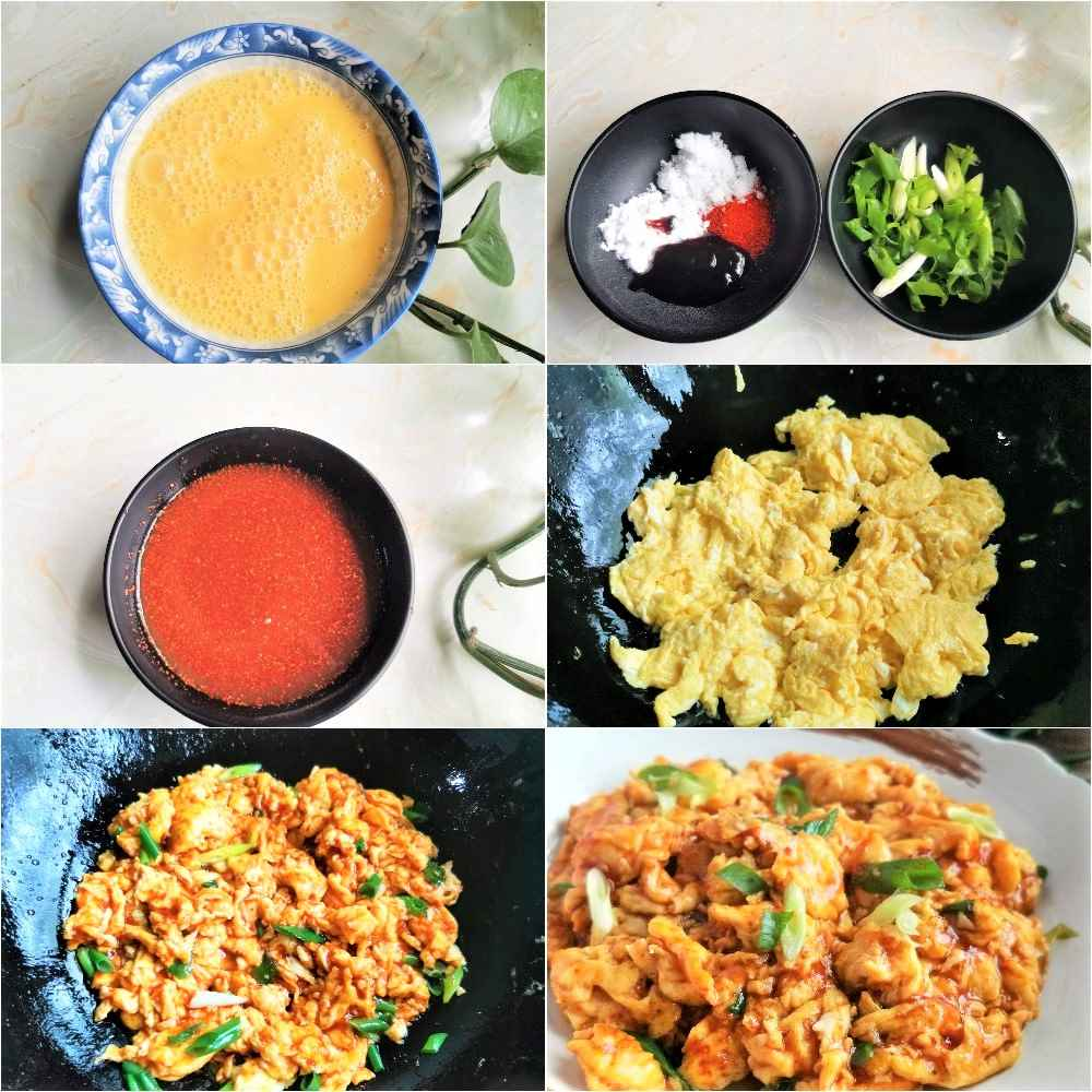 TikTok scrambled eggs recipes cooking steps with pictures