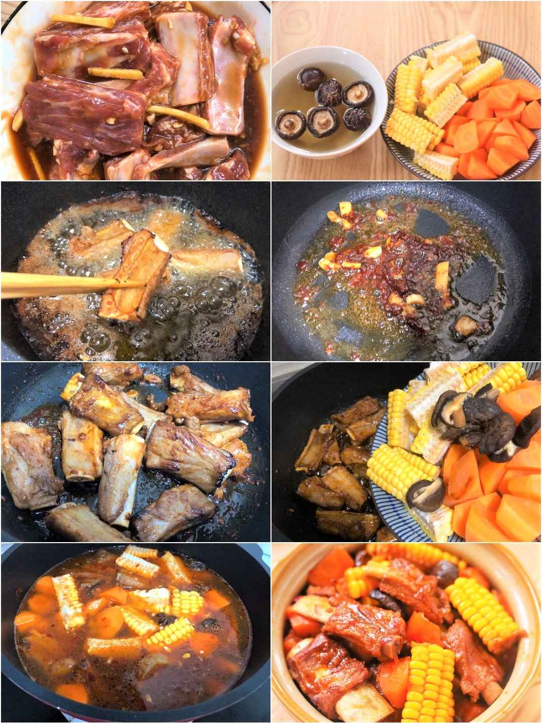 stewed pork ribs recipe with pictures step by step