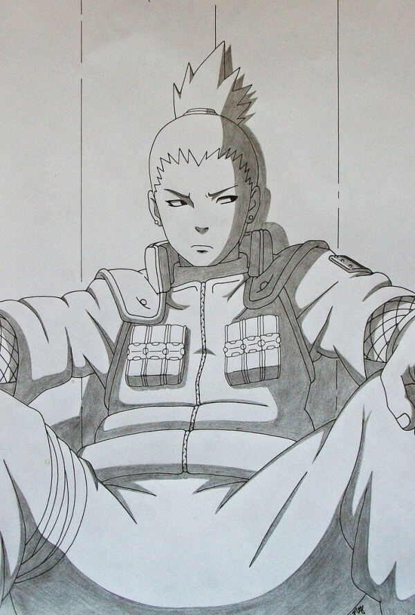 Shikamaru Nara Drawing Best Anime Character Drawing Ideas 19
