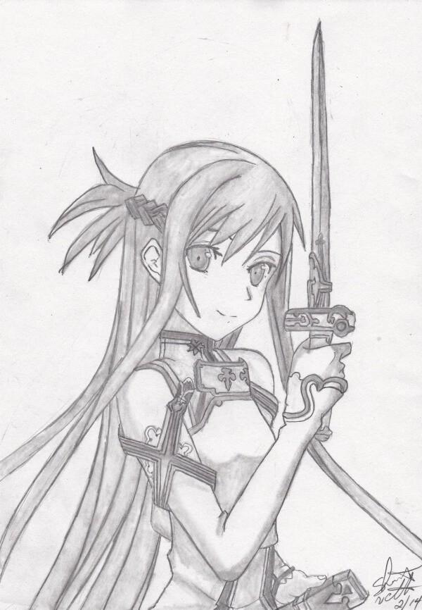 Asuna Drawing Easy