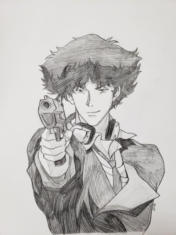 Cowboy Bebop Spike Spiegel Drawing