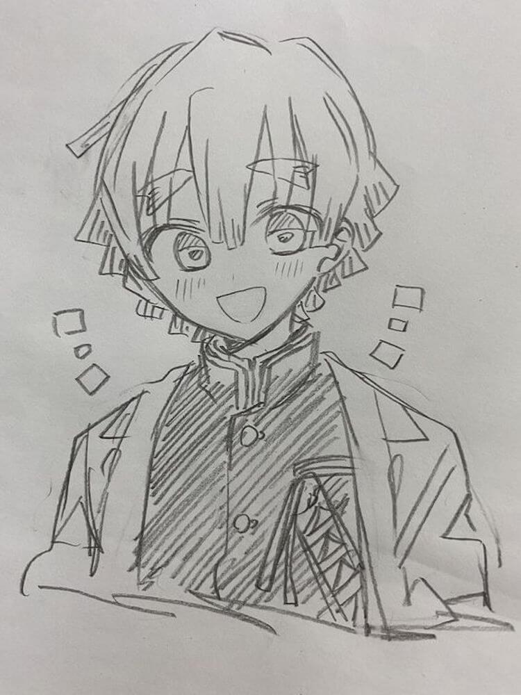 Demon Slayer Zenitsu Drawing Ideas