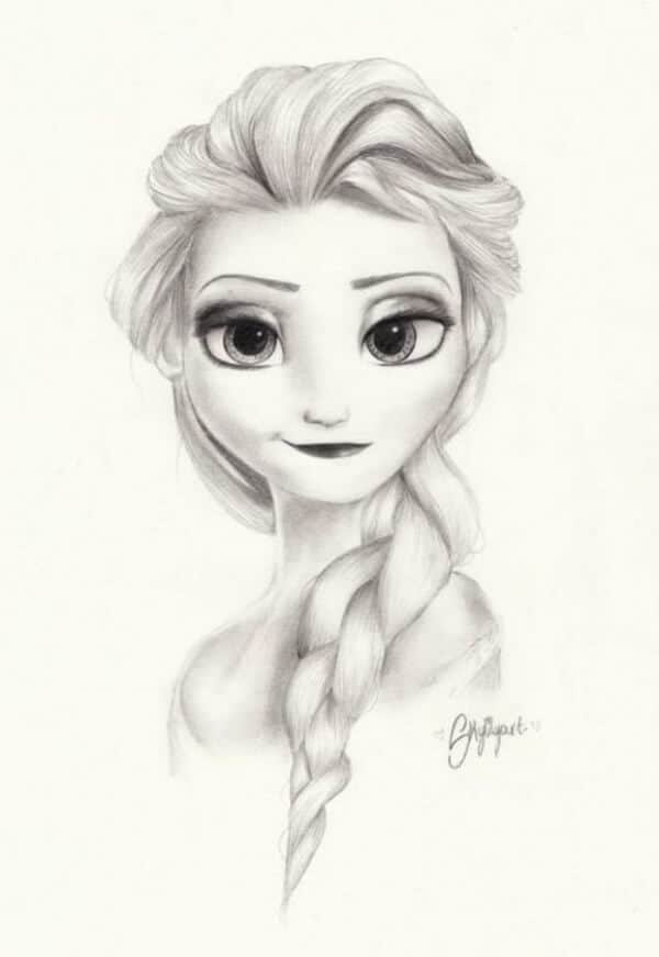 Elsa Snow Queen Drawing 25 Best Anime Character Drawing Ideas