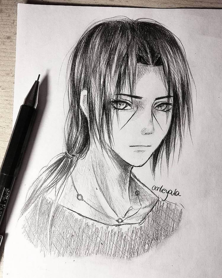 Itachi Uchiha Drawing Easy