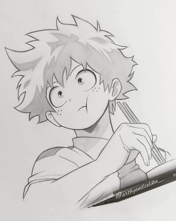 Izuku Midoriya Drawing Cute