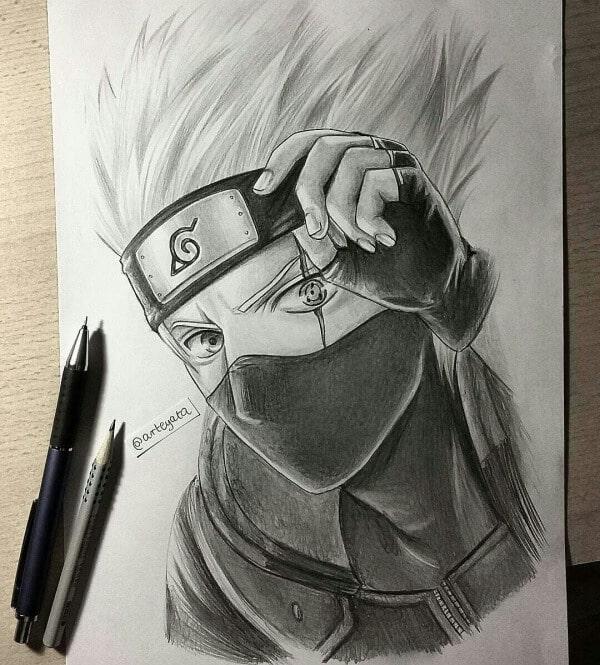 Kakashi Hatake Sketch Drawing 25 Best Anime Character Drawing Ideas